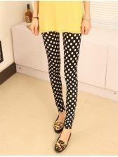 Lowest Price Polka Dots Color Block Elastic Waist Wholesale New Hot Popular Skinny Leggings