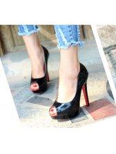 Hot Korea Style OL Ladylike Peep Toe Easy Match Thin Heel Platform High Heels