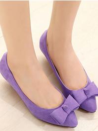 New Item Hot Popular Sharp Toe Bow Genuine Leather Lining Flats