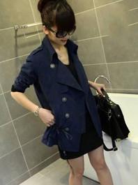 Fashion Korea Vintaged Velet Single-Breasted Lapel Solid Color Bow Long Sleeve Versatile Short Coat