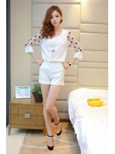 2014 Top Popular Style Lace Solid Color Natural Waist Fitted Girl Cozy Short Pants