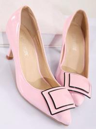 Best New Fashion Elegant Style Popular Pure Color Thin Heels Sharp Toe Flats