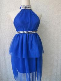 Great Black Fashion Style Gauze Patch Work Studded Off The Shoulder Solid Color Natural Waist Fluffy Halter Dress