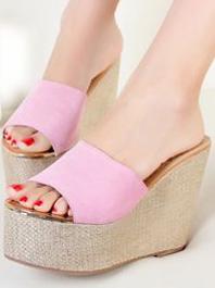 Summer New Item Sweet Style Fashion Popular Wedge Open-toe Platform Slippers
