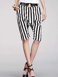 Junoesque Feminine Style Stripe Color Block Loose Women Harem Pants