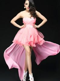 New European Sexy lady Gauze Boat Collar Solid Color Ruffles Irregular Edge Sleeveless Maxi Dress