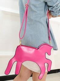 2014 Individual Designed Item Casual Fashion Horse Shape Solid Color Zipper Mini Bag