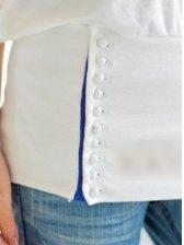 Korea Casual Style Boat Collar Solid Color Rivert Loose Short Bat Sleeve T-Shirt