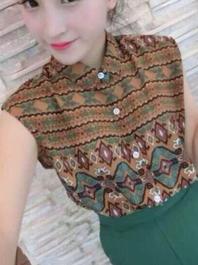 New Vintage Fashion Popular Joker Printed Polo Collar Single-breasted Sleeveless T-Shirts