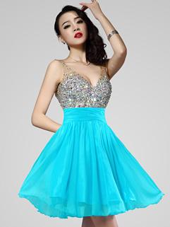Palace Style Vintage Euro Style Diamond V Neck Backless Zip Up Gowns Dress