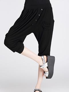 Wholesale Pants Punk Fashion Comfortable Wear Single-Breasted Black Harem Pants