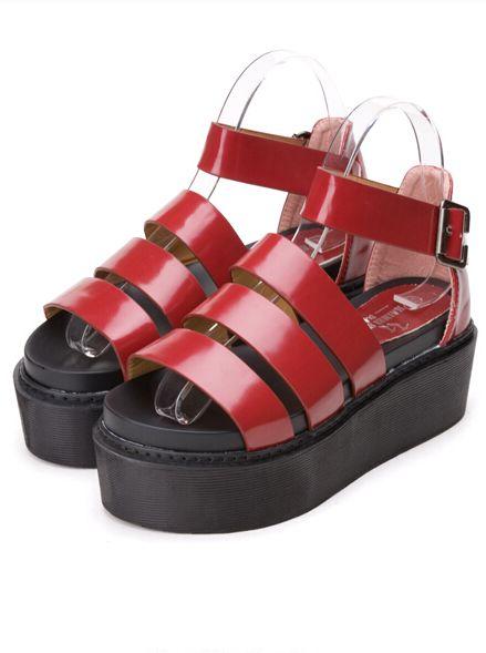 Most Popular Attractive Design Simple Retro Open Toe Pure Color One-buckle Belt Flat Heel Women Sandals