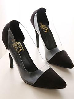 European And American Style High Heels Color Block Sharp Toe Simple Elegant Pumps