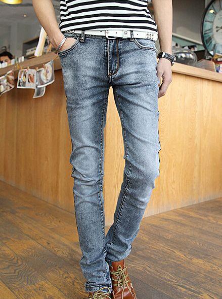 Newest Fashion 2014 Summer Korea Individual Design Skinny Simple Design Young Long Mid Waist Pockets Denim Pants