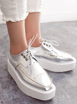 Individual Style Street Wholesale Price Bandage Solid Color Square Toe Flat Heel Autumn Platform