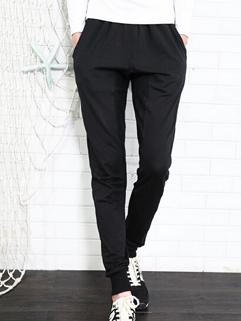 Corea Casual Pants Drawstring Pockets Long Skinny Pants Mid Waist Harem Casual Black Pants M-3XL