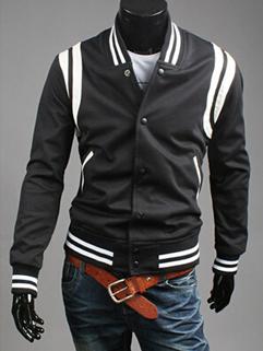 2014 Autumn Winter From China Men Coat Hoodie Color Block Leisure Sports Wear Zipper Up Long Sleeve Men Baseball Coat