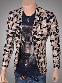 2014 Newest Fashion Young Coats Floral Pattern Long Sleeve Lapel Coats Street Party Cotton Khaki Coats M-XXL