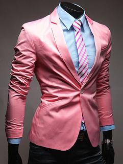 M-XXL 2014 Korea Fashion Slim Fit Stylish Mens Suit Solid Color Lapel Long Sleeve One Button Business Male Coat