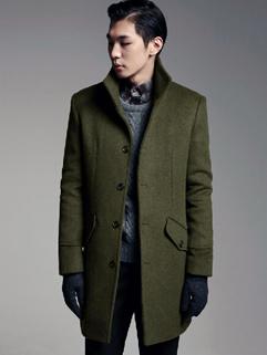 European Simplicity Style Coats Pure Color Slant-cut Bottom Button Long Sleeve Lapel Casual 3 Colors Party Coats M-XL