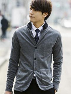 2014 Autumn Man Zipper Up Coat Wholesale Pure Color Gentle England Stylish Leisure Wear For Sale Item Young Wear
