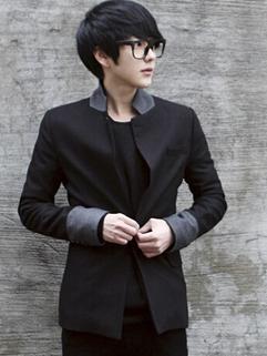 2014 New Man Button Coat Wholesale Pure Color Gentle British Stylish Leisure Wear For Sale Item M L XL Young Wear