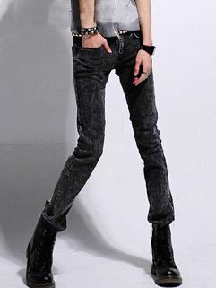 2014 Fashion Wholesale Jeans Slim Cut Mid Waist Long Fitted Men Jeans