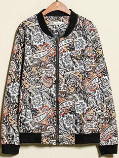 Excellent Quality 2014 Autumn Men Jacket Fashion Vintage Pattern Long Sleeve Zipper Casual Wear Jacket M-XL
