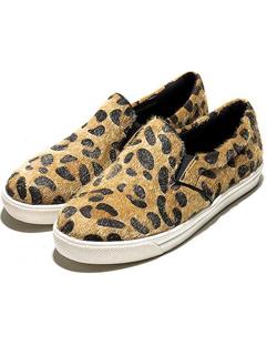 2014 Korea Autumn Newest Women Flat Fashion Chic Leopard Round Toe Casual Street Wear Flat 35-40