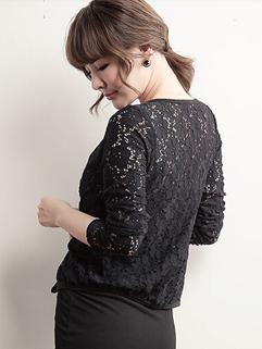 Vintage Lace Style Short Blouse Korean OL Office Occasion Wear Cheap Price Clothes For Sale S M L