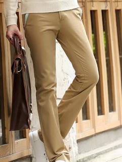 2014 Korean Fashion Pants Pure Color Zip Up Pockets Long Skinny Pants Mid Waist Casual Khaki Pants 28-34