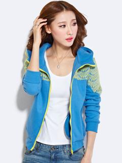 Korean Stylish Women Coat Lace Slim Fit Zipper Active Wear Autumn Wear  Size M-XL Cheap Cloth For Sale