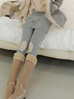 2014 Autumn Winter Newest Legging Fashion Splicing Pure Color Mid-Waist Women Fitted Ninth Legging