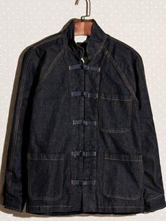 2014 Autumn New Jackets Chinese Knot Plate Buttons Stand Collar Long Sleeve Dark Blue Jackets M-XXL