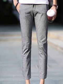 2014 Autumn New Fashion Men Pant Comfortable Simplicity Mid-Waist Pure Color Casual Ninth Pant For Sale