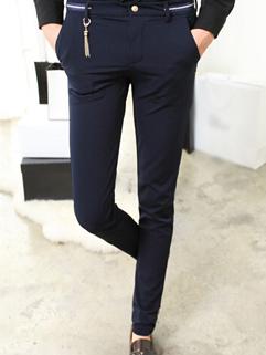 2014 Versatile Style Pants Skinny Pure Color Low Waist Long Blue Cotton Pants 28-33