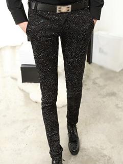 2014 Simplicity Style Pants Skinny Color Block Snowflake Low Waist Long Cotton Black Pants 28-33