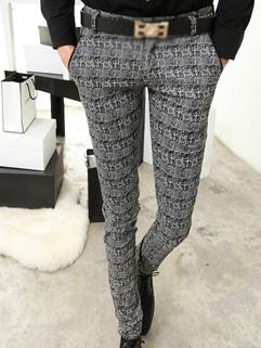 2014 Autumn New Fashion Men Pants Skinny Color Block Low Waist Long Cotton Black Pants 28-33
