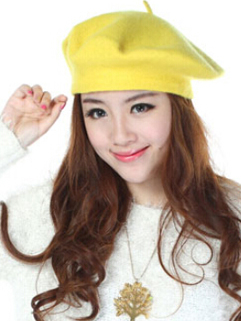 2014 Winter Hat Royal Solid Color Cone Cap 10 Colors Woolen Glengarry  All-matching Outgoing Hat For Sale
