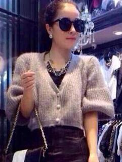 Newest Fashion Women Short Top Sweater Cardigan Half Flare Sleeve Street OL Office Wear