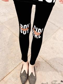 2014 Korean Fashion Trendy Design Legging Casual Comfortable Low-Waist 3Color Skinny Letter Printed Legging