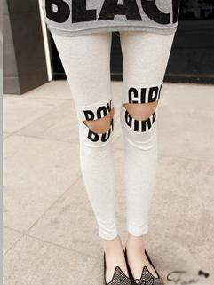 2014 Korean Fashion Hot Design Legging High Quality Low-Waist 3Color Skinny Letter Printed Women Legging
