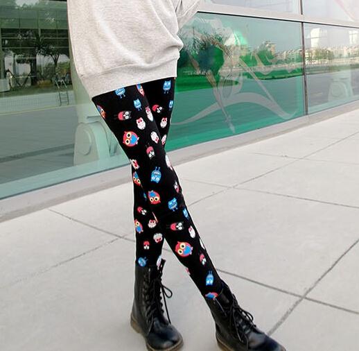 Cartoon Owl Printing Women Leggings Autumn Leisure Deals Skinny Pants For Sale