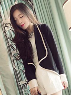 2014 Korean Preppy Style Women Top Office Work Occasion Formal Wear Slim Cut Young Look Short Coat