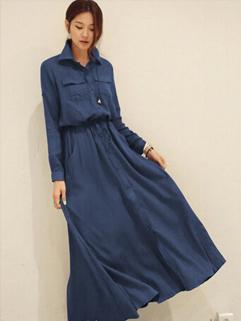 2014 Japanese Elegant Women Shirt Dress Single Breasted Work Office Occasion OL Style Look Dresses