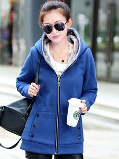 Newest Fashion Women Warm Hoodies Must Having Item Zipper Up Wrap Size M-XXL Preppy Wear Coat