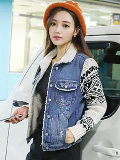 2014 Newest Vintage Denim Coat Women Preppy Style Look With Cotton Warm Size S-XL Short Coat