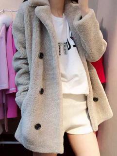 2014 Collection Show Item Women Coat Woolen Button Up Slim Cut  Korean Leisure Autumn Wear Coat