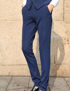 2014 Korean Fashion Style Pants Skinny Pure Color Mid Waist Long Blue Pants M-XXL