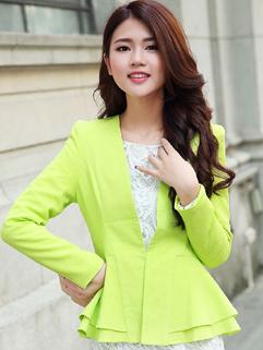 Korea Formal Blazers Solid Color Long Sleeve Button Blazers Work 2 Colors Blazers